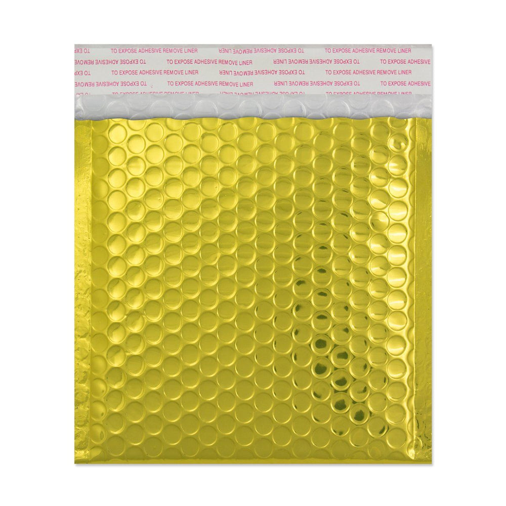 140 x 165 Metallic Gold Padded Bubble Envelopes [Qty 100]