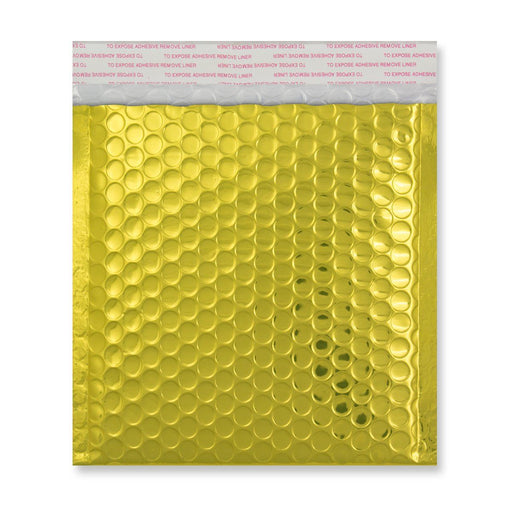 165 x 165 Metallic Gold Padded Bubble Envelopes [Qty 100]