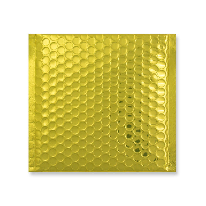Metallic Gold Square Padded Bubble Envelopes [Qty 100] 230mm x 230mm