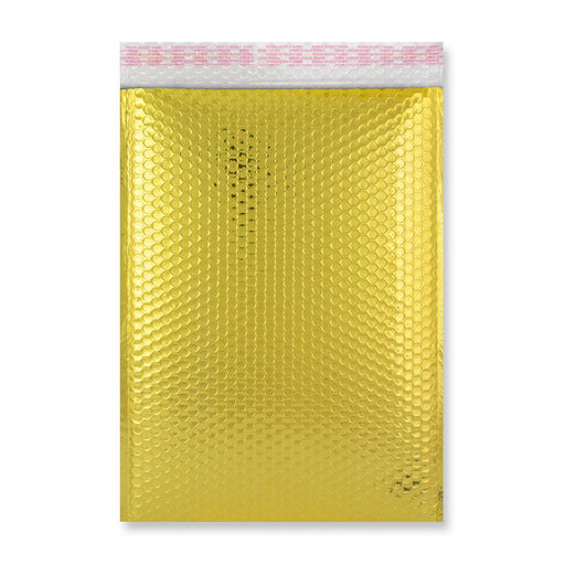 C4 Metallic Gold Padded Bubble Envelopes [Qty 100] 230mm x 324mm