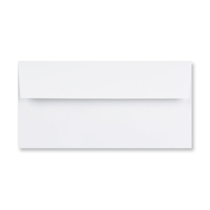DL Conqueror Diamond White 120gsm Laid Peel & Seal Wallet Envelopes [Qty 250] 110 x 220mm
