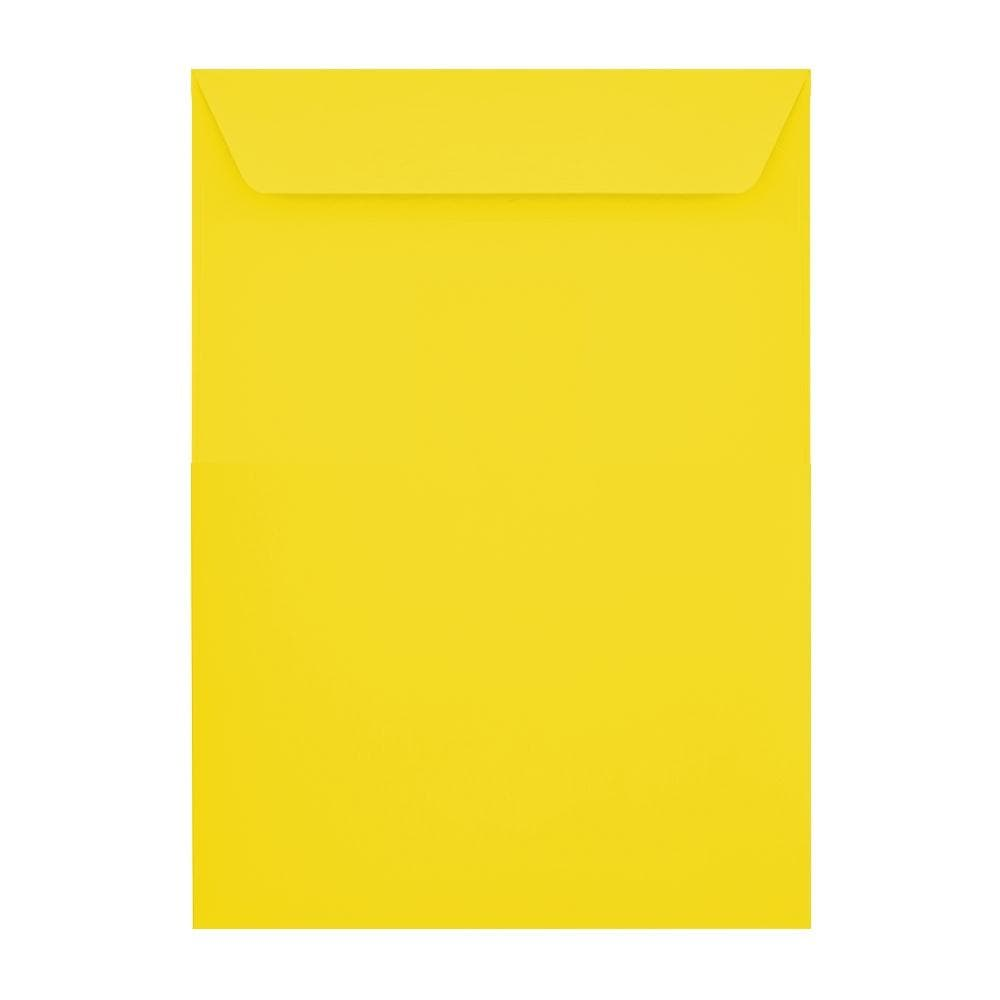 C4 Canary Yellow 120gsm Peel & Seal Envelopes [Qty 250] 229 x 324mm (2131096862809)