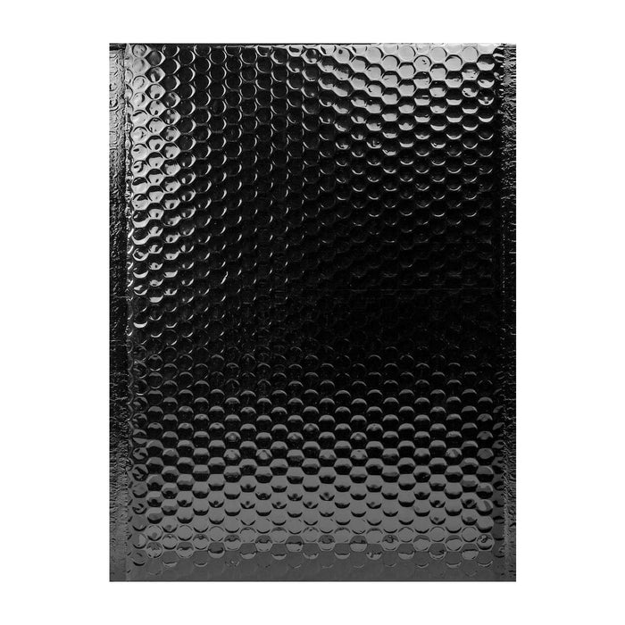 340 x 240 Metallic Black Padded Bubble Envelopes [Qty 100]