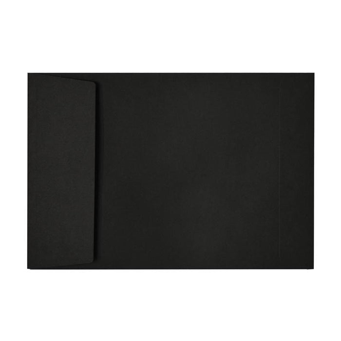 C5 Black Gusset Window 140gsm Peel & Seal Envelopes [Qty 125] (2131020021849)