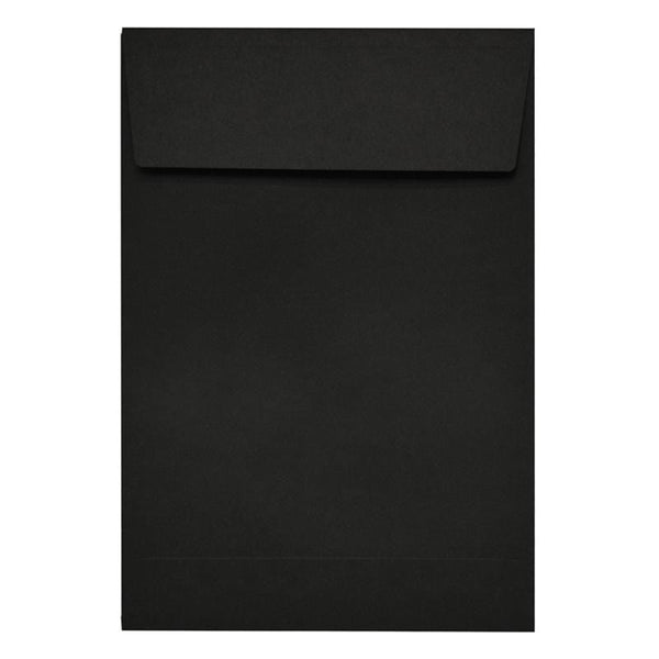 C5 Black Gusset 140gsm Peel & Seal Envelopes [Qty 125] (2131019890777)