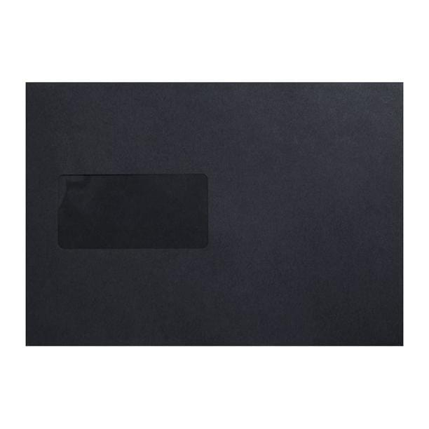 C5 Black 180gsm Luxury Window 120gsm Peel & Seal Envelopes [Qty 250] 162 x 229mm (2131486965849)