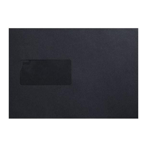 C5 Black Window 120gsm Peel & Seal Envelopes [Qty 250] 162 x 229mm