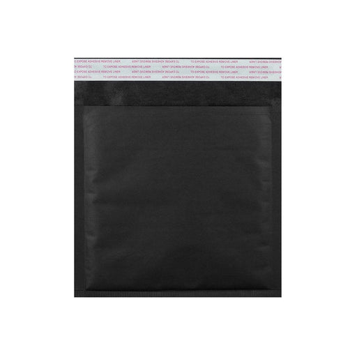 165 x 165 Matt Black Padded (Paper Finish) Bubble Envelopes [Qty 100] (2131023757401)