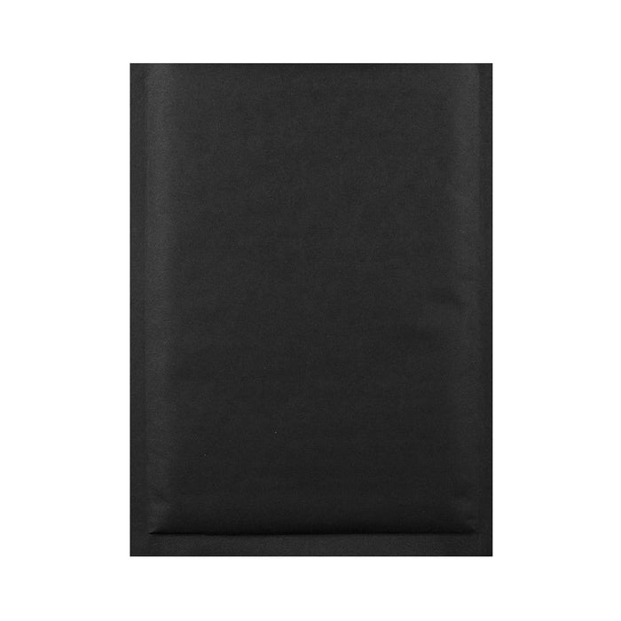 250 x 350 Matt Black Padded (Paper Finish) Bubble Envelopes [Qty 100]