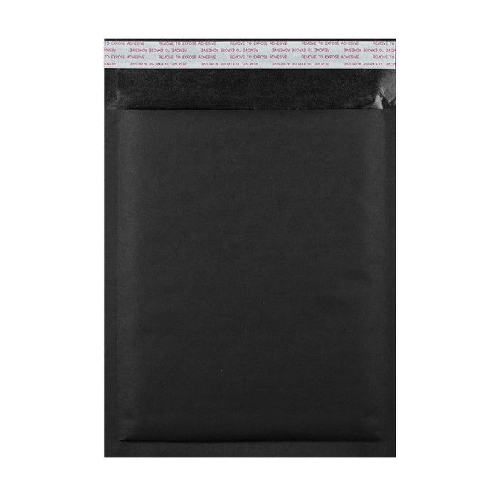 C5+ Matt Black Padded (Paper Finish) Bubble Envelopes [Qty 100] 180 x 250mm (2131025330265)