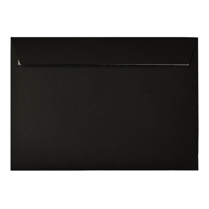 C5 Black Window 180gsm Peel & Seal Envelopes [Qty 200] (2131018416217)