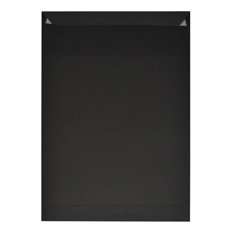C4 Black Luxury 225gsm Peel & Seal Envelopes [Qty 200] (2131018973273)