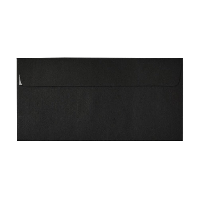 DL Black Window Envelopes 120gsm Peel & Seal [Qty 500] 110 x 220mm (2131017826393)