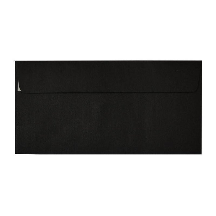 Luxury Black DL Envelopes 225gsm Peel & Seal [Qty 250] (2131017564249)