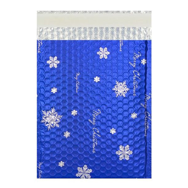 C4 Matt Blue Christmas Padded Bubble Bags [Qty 100] 230mm x 324mm (2131322798169)