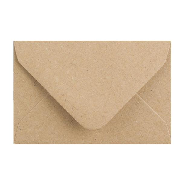 Brown Fleck 110gsm Business Card Envelopes [Qty 250] 62 x 94mm