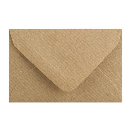 Brown Ribbed 100gsm Business Card Envelopes [Qty 250] 62 x 94mm (2131321389145)
