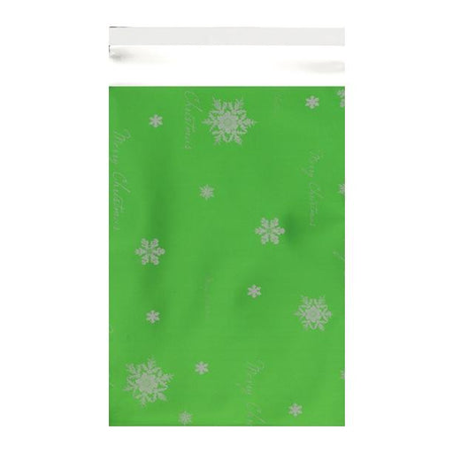 C3 Green Christmas Foil Bags [Qty 100] 320 x 450mm (2131323682905)