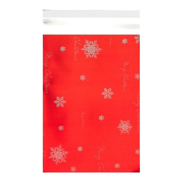 C3 Red Christmas Foil Bags [Qty 100] 320 x 450mm (2131323879513)