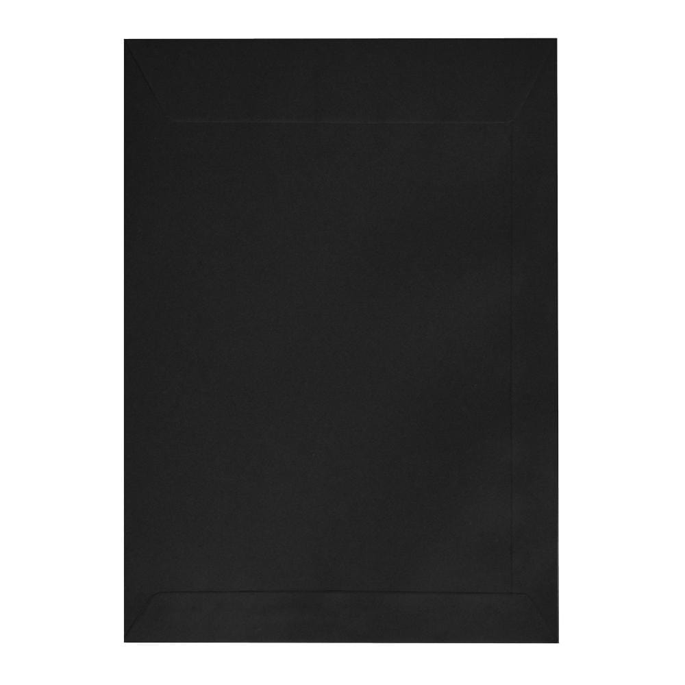 C4 Black 120gsm Pocket Peel & Seal Envelopes [Qty 250] 229 x 324mm (2131324993625)