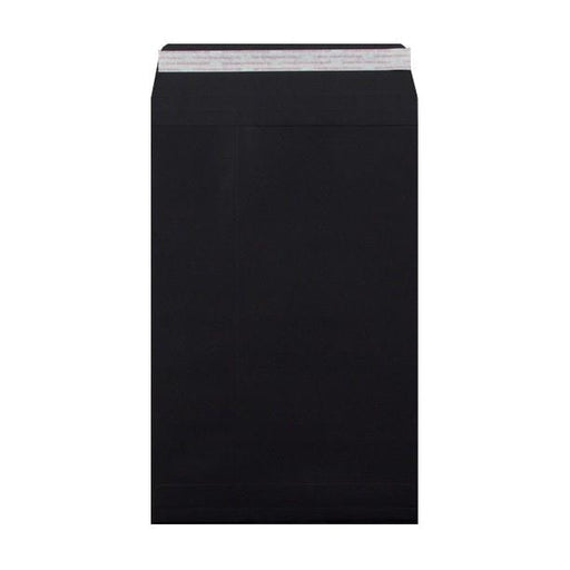 C4 Black Gusset 180gsm Envelopes [Qty 200] 229 x 324 x 25mm (2131324797017)