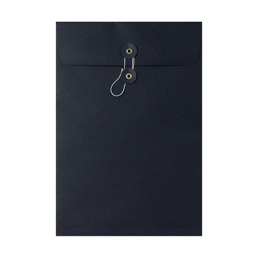 C4 Black Gusset String & Washer Envelopes [Qty 100] 324 x 229 x 25mm