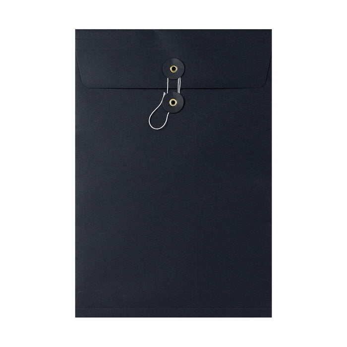 C4 Black Gusset String & Washer Envelopes [Qty 100] 324 x 229 x 25mm (2131402719321)