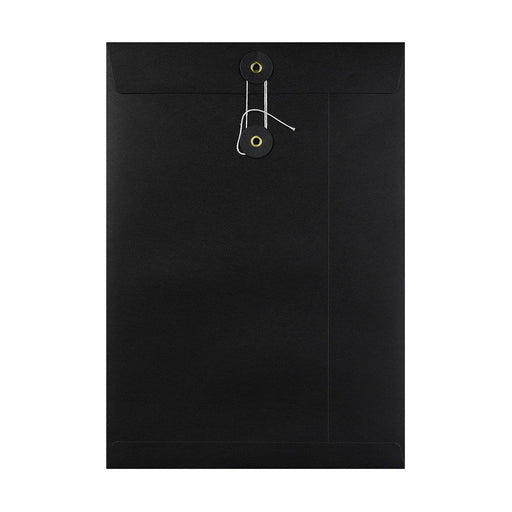 C4 Black String & Washer Envelopes [Qty 100] 324 x 229mm