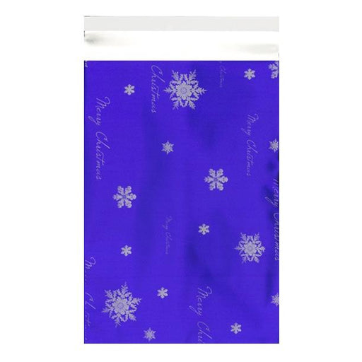 C3 Blue Christmas Foil Bags [Qty 100] 320 x 450mm (2131323617369)