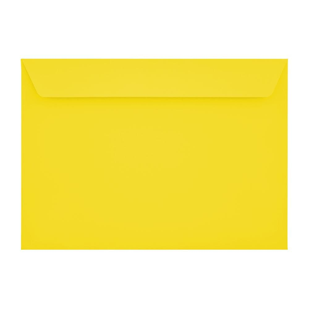 C5 Canary Yellow 120gsm Peel & Seal Envelopes [Qty 250] 162 x 229mm
