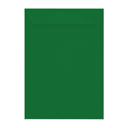 C4 Holly Green 120gsm Peel & Seal Pocket Envelopes [Qty 250] 229 x 324mm