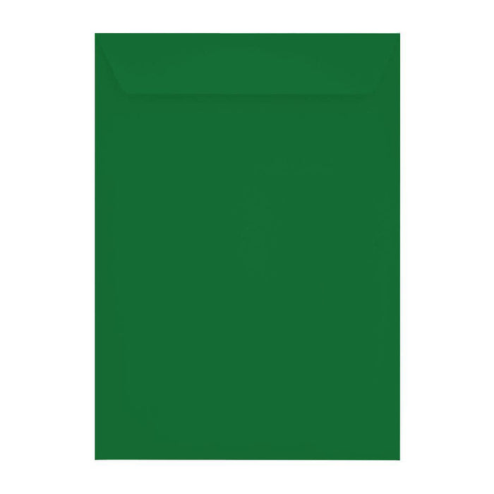 C4 Holly Green 120gsm Peel & Seal Envelopes [Qty 250] 229 x 324mm