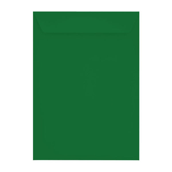 C4 Holly Green 120gsm Peel & Seal Envelopes [Qty 250] 229 x 324mm (2131098337369)