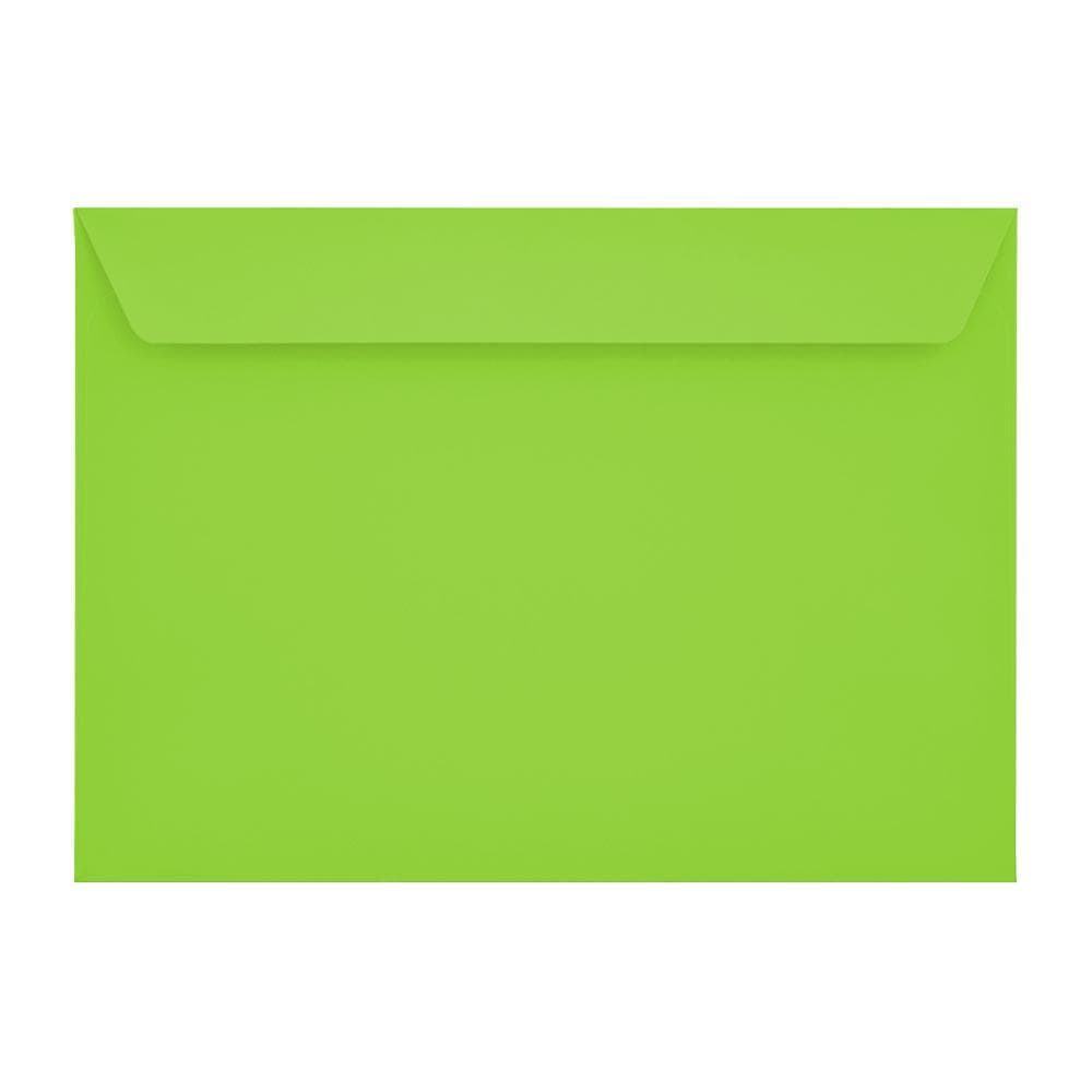 C4 Lime Green 120gsm Peel & Seal Envelopes [Qty 250] 229 x 324mm