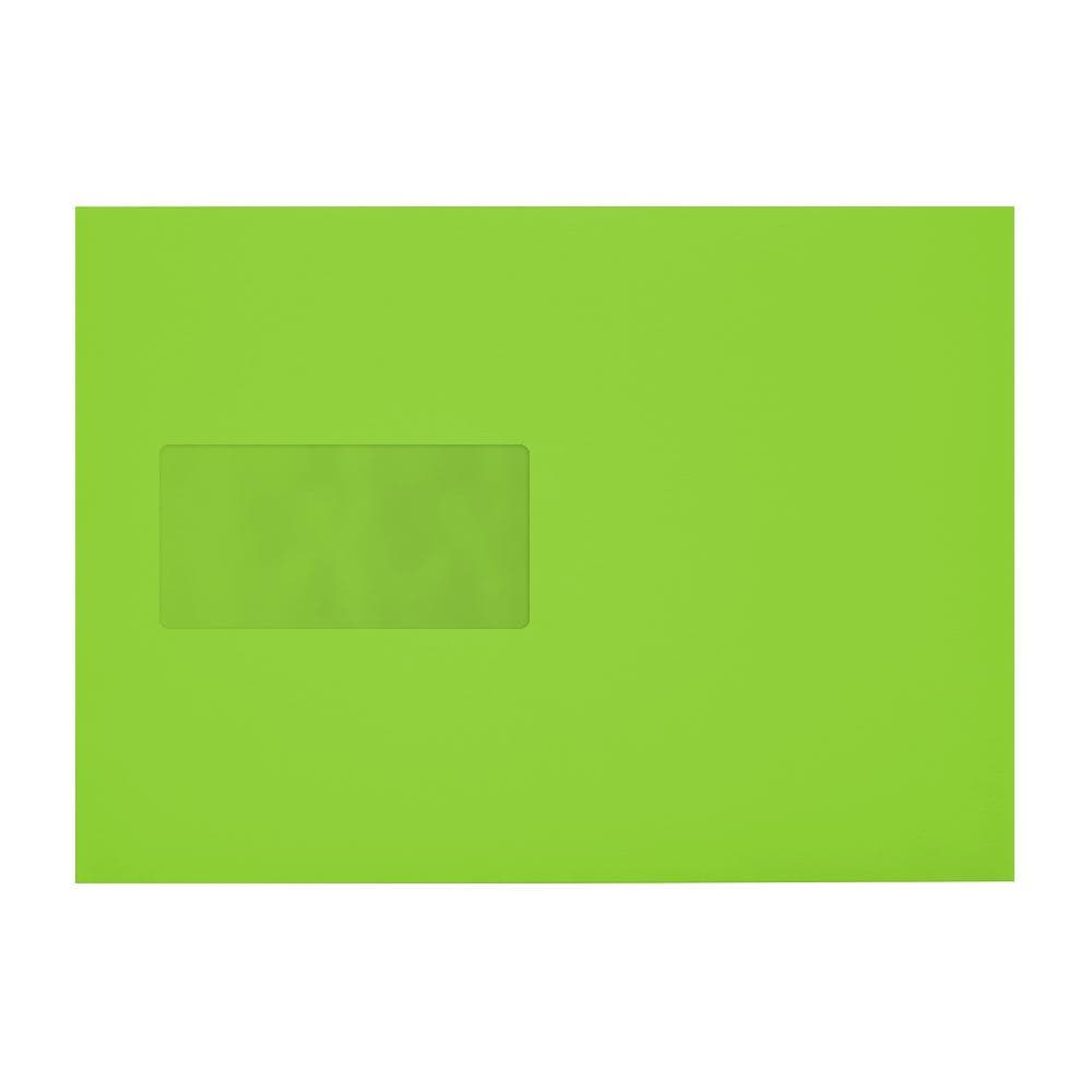 C5 Lime Green Window 120gsm Peel & Seal Envelopes [Qty 250] 162 x 229mm (2131037421657)