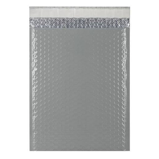 C4 Grey Gloss Padded Bubble Envelopes [Qty 100] 230mm x 324mm