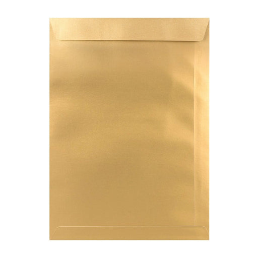 C4 Metallic Gold Pocket 120gsm Peel & Seal Envelopes [Qty 250] 229 x 324mm