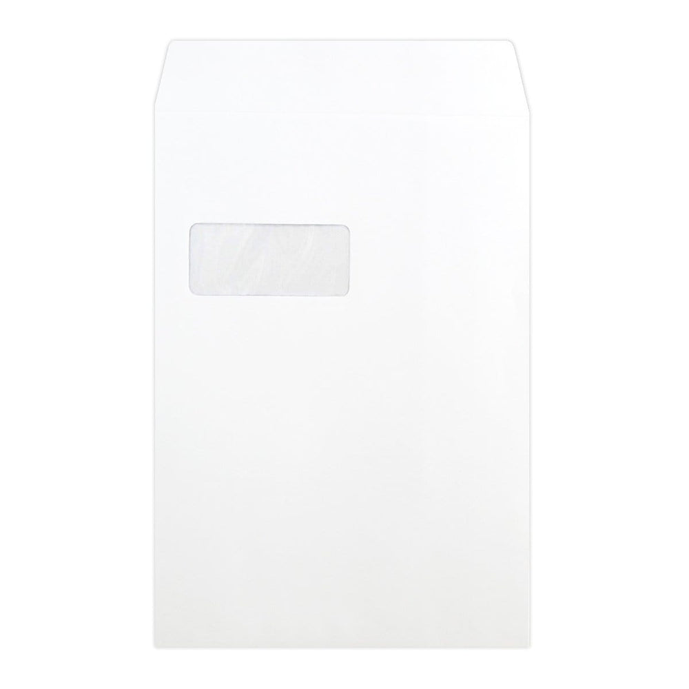 C4 White Luxury Pocket Window 180gsm Peel & Seal Envelopes [Qty 200] 229 x 324mm (2131061932121)