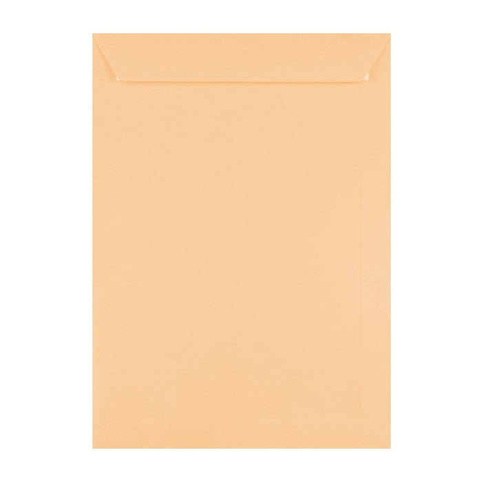 C4 Peach 120gsm Peel & Seal Envelopes [Qty 250] 229mm x 324mm (2131416449113)