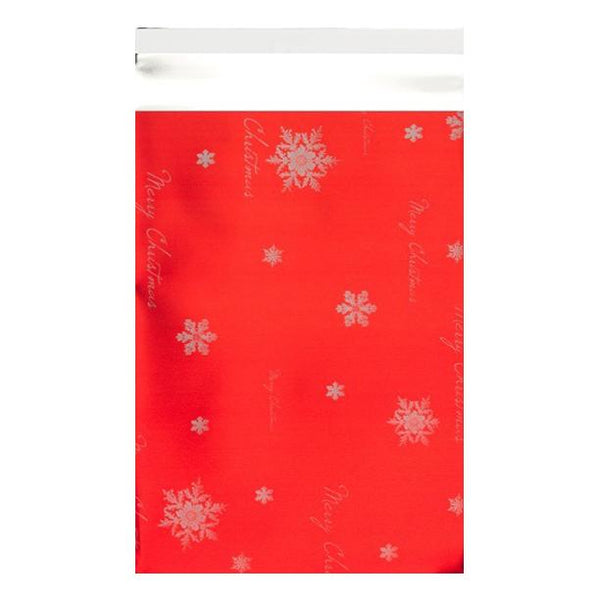 C4 Red Christmas Foil Bags [Qty 100] 230 x 320mm (2131324043353)