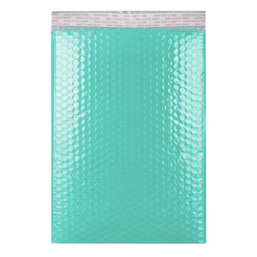 C4 Duck Egg Blue Gloss Padded Bubble Envelopes [Qty 100] 240 x 340mm (2131352027225)