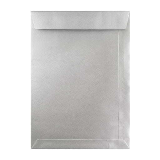 C4 Metallic Silver Pocket 120gsm Peel & Seal Envelopes [Qty 250] 229 x 324mm