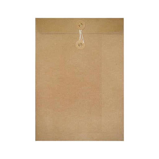 C4 Manilla String & Washer Envelopes [Qty 100] 324 x 229mm