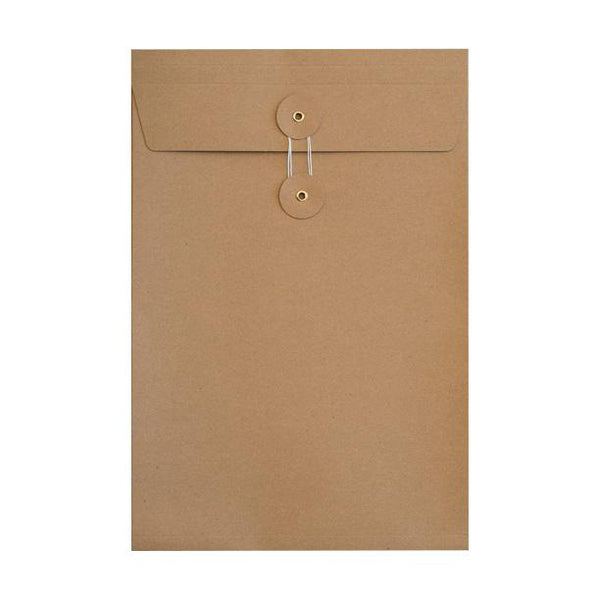 C4 Manilla Gusset String & Washer Envelopes [Qty 100] 324 x 229 x 25mm