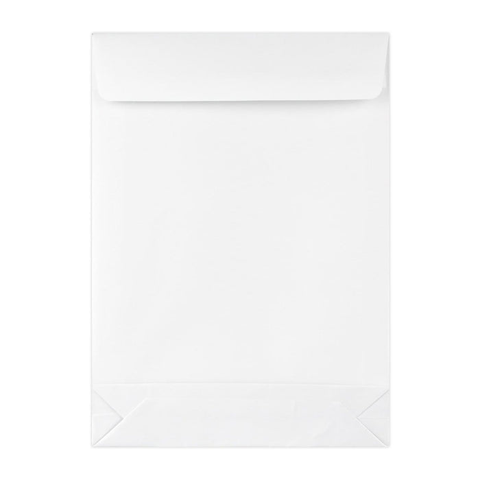C4 White Tear Resistant Gusset Envelopes [Qty 100] 229 x 324 x 50mm (2131263225945)