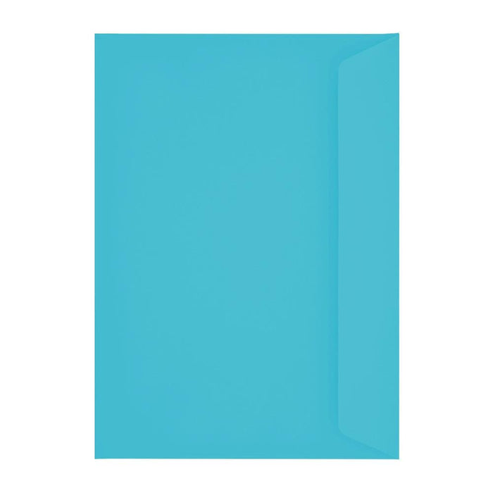 C4 Pacific Blue Window 120gsm Peel & Seal Envelopes [Qty 250] 229 x 324mm