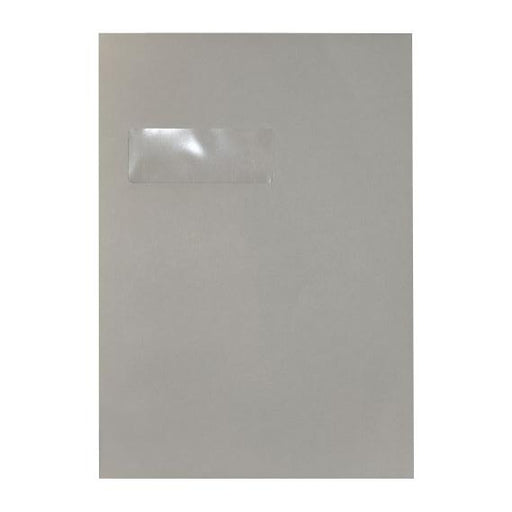C4 Storm Grey Window 120gsm Peel & Seal Envelopes [Qty 250] 324 x 229mm