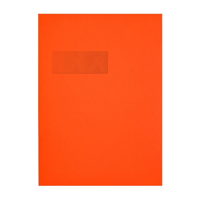 C4 Sunset Orange Window 120gsm Peel & Seal Envelopes [Qty 250] 229 x 324mm
