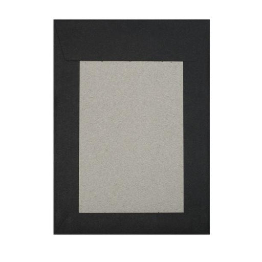 C4 Black Board Back Envelopes [Qty 125] 229 x 324mm