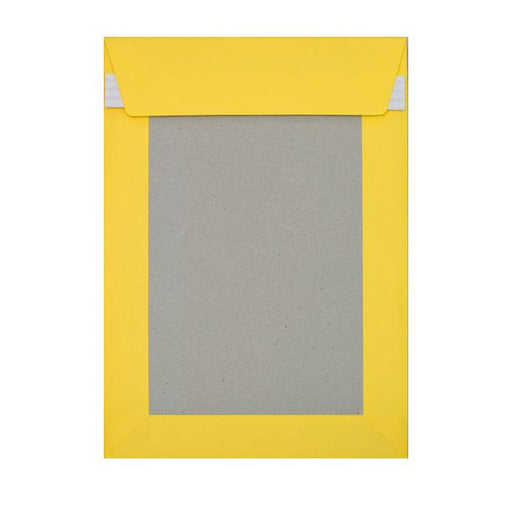 C4 Yellow Board Back Envelopes [Qty 125] 229 x 324mm
